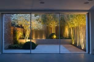 Metal Raised Garden Beds - garden light design ideas landscape contemporary with glass wall exterior lights urban garden