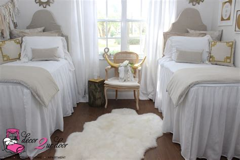 white dorm bedding neutral tan white dorm room farmhouse style shabby chic decor 2 ur door