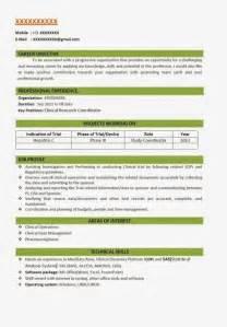 resume format for fresher chemist resume template exle
