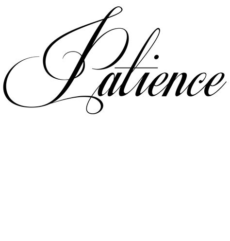 patience tattoo designs patience tattoos patience