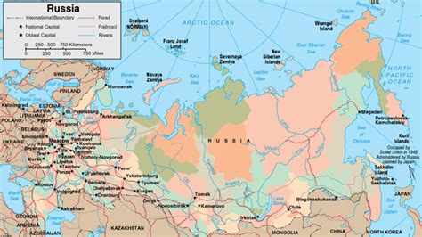 russia map showing cities map of russia maps of the russian federation