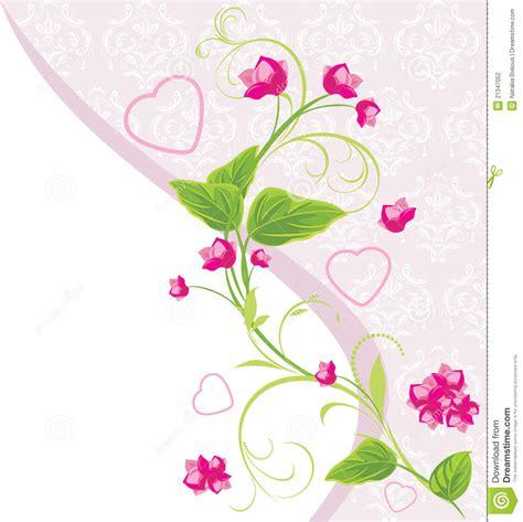 imagenes flores corazones flores rosadas con los corazones fotograf 237 a de archivo