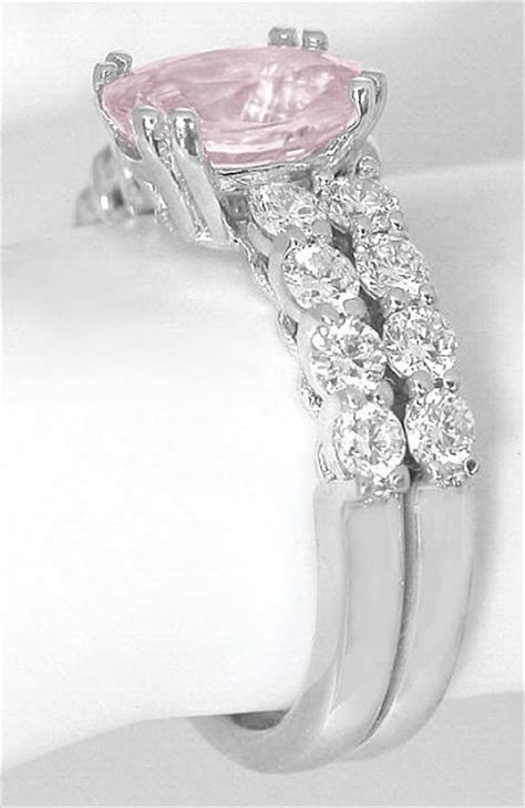 light pink sapphire engagement rings light pink sapphire engagement ring in 14k white