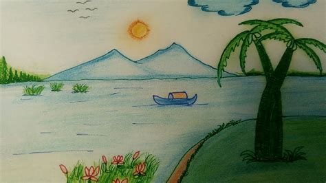 Beautiful Nature Simple Drawing Painting Picture Gallery Beautiful Nature Sketches Stepstep Painting Sketches For