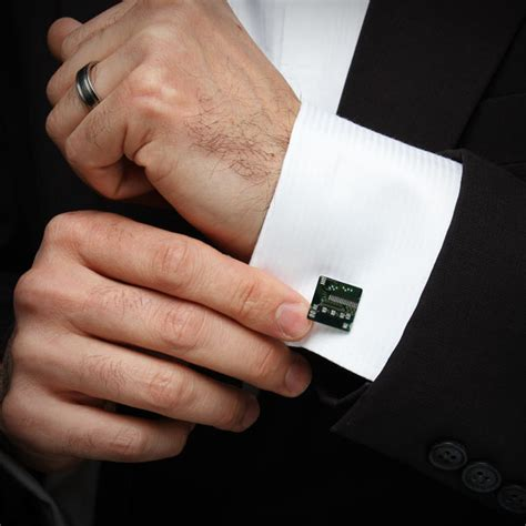 circuit board cufflinks gadgetsin
