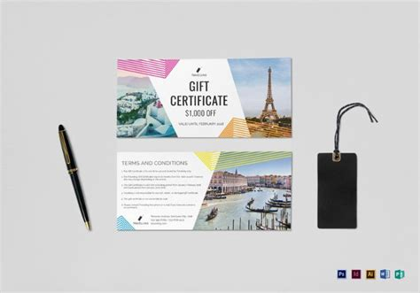 Travel Gift Certificate Templates 9 Free Word Pdf Psd Documents Download Free Premium Printable Travel Voucher Template