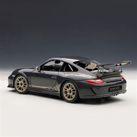 black porsche gt3 porsche 911 997 gt3 rs grey black w white gold metallic