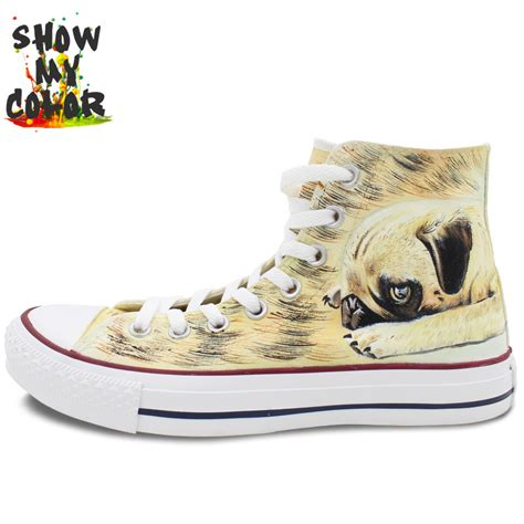shoes for pugs lovely pug converse custom sneaker painted high top sneaker for best