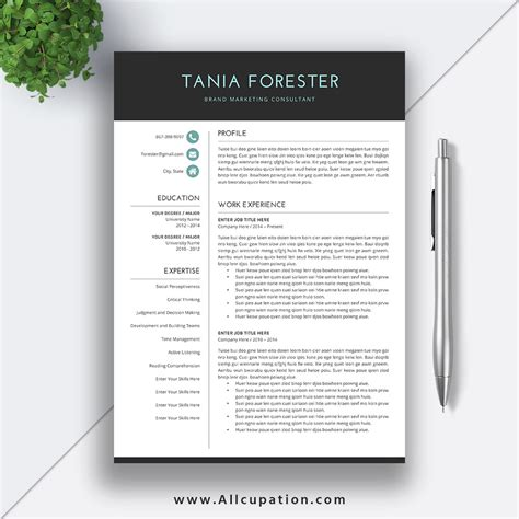 free resume template downloads unique free resume templates download