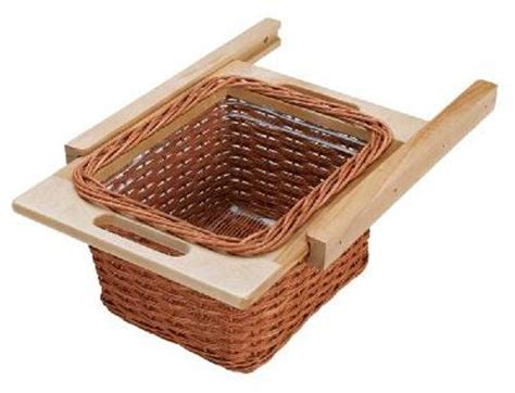 Rev A Shelf Baskets by 320mm 13 5 8 Inch Rattan Basket Rails And Liner 4wb 320i