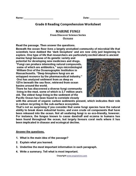 8th Grade Reading Worksheets by Uncategorized 8th Grade Reading Worksheets