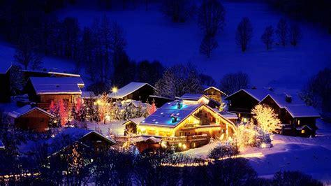 france holidays christmas night lights festive winter snow