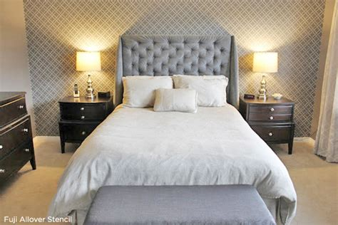 bedroom wall stencils home designs ideas absolutely paint your walls gray