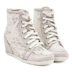 Boots Wedges Korea Style White the world s catalog of ideas