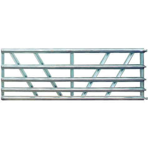 Cheap Kitchen Organization Ideas farmaster utility 16 ft 5 panel galvanized gate 42151168