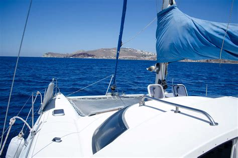 catamaran greece yacht charter catamaran santocruise santorini island greece