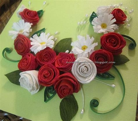 Paper Quilling Roses - paper quilling and arrangement flickr photo