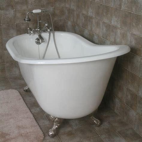 cast iron bathtub with claw feet 61 quot cast iron slipper tub w ball claw feet classic