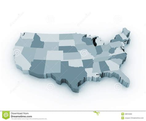 free stock images us map us 3d state map stock illustration image of background