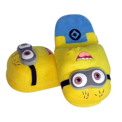 Minion Sleepers by Giggly Minion Plush Slippers Minions And Despicable Me