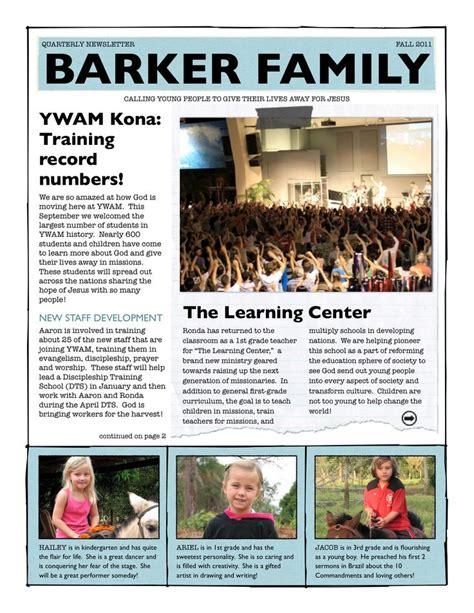 Family Our Newsletter 8 best family newsletter ideas images on