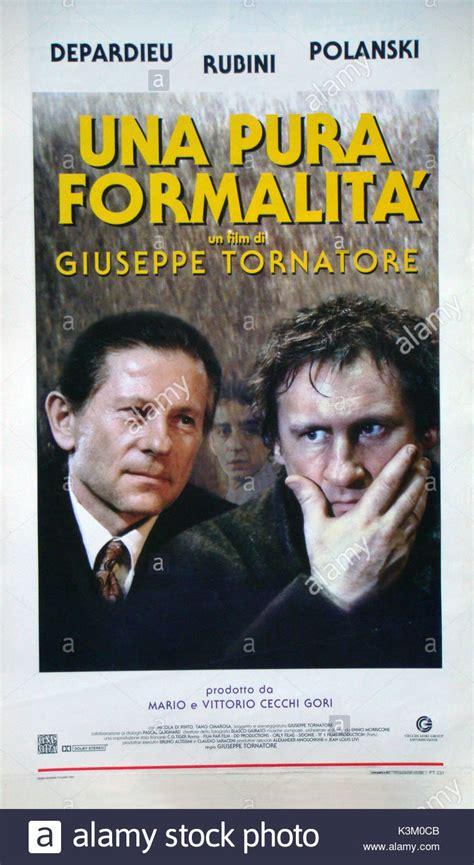 gerard depardieu roman polanski pura formalita stock photos pura formalita stock images