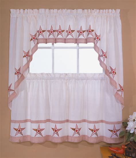 country curtains with stars country stars curtains red ecru lorraine home