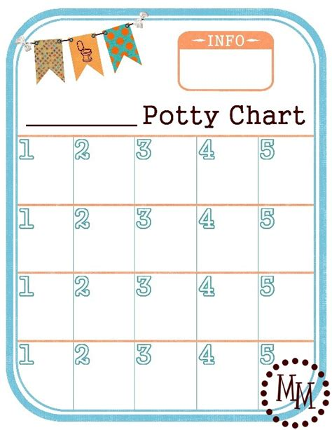 potty training chart free printable the scrap shoppe