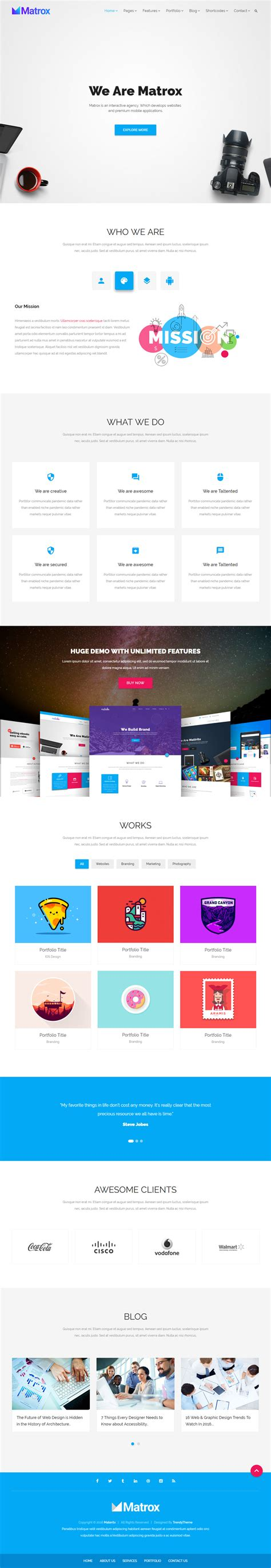parallax scrolling template images templates design ideas