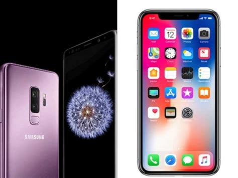 iphone v s samsung s9 samsung galaxy s9 vs iphone x how samsung s new galaxy s9 compares to the iphone x technology