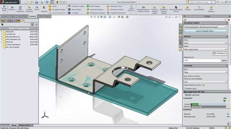 Design For Manufacturing Cost Upfront Solidworks Costing Template