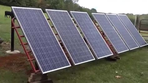 diy solar panel projects diy solar panels meet cattle panels