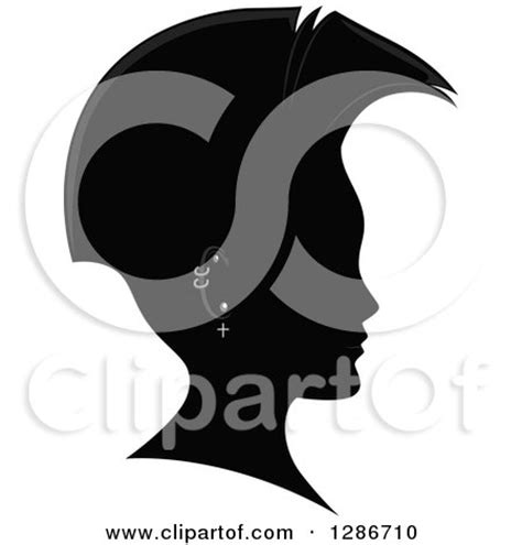 mohawk outline designs royalty free silhouette illustrations by bnp design studio