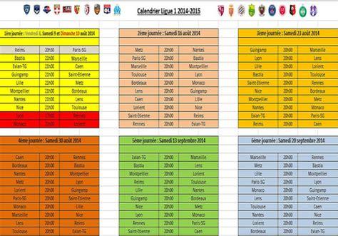 Calendrier 2017 Avec Vacances Et Jours Fériés T 233 L 233 Charger Calendrier Ligue 1 2014 2015