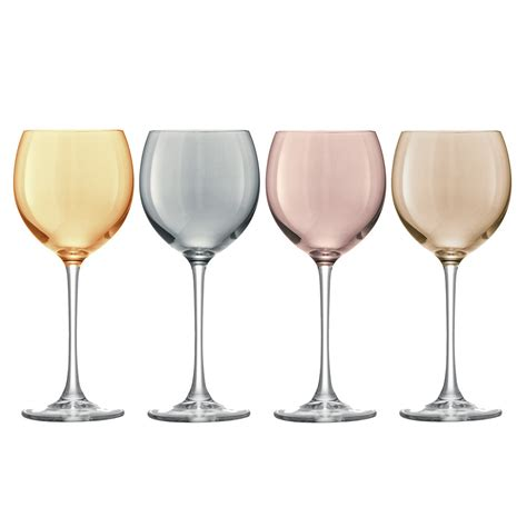 wine glasses buy lsa international polka assorted wine glasses set of