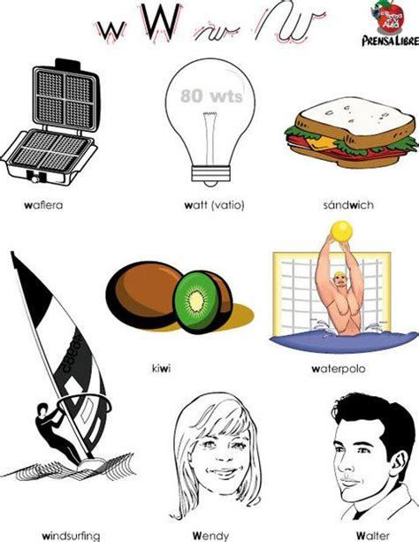 imagenes que empiecen con la letra si letra w personas y objetos que empiezan por w letra w