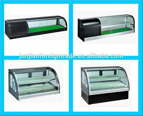 Plexiglass Cabinet 2 Floor Counter Top Cake Display Fridge With Ce Made In