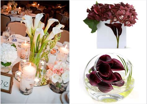 Calla Lily Wedding Flowers Affordable Wedding Reception Calla Lilies Centerpieces For Weddings