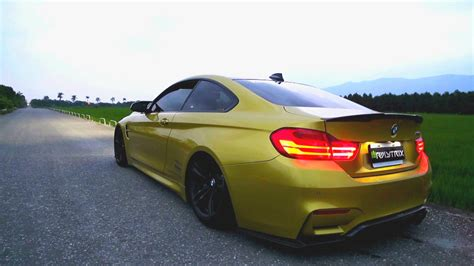 bmw m4 revs and tunnel sound w armytrix iphone app