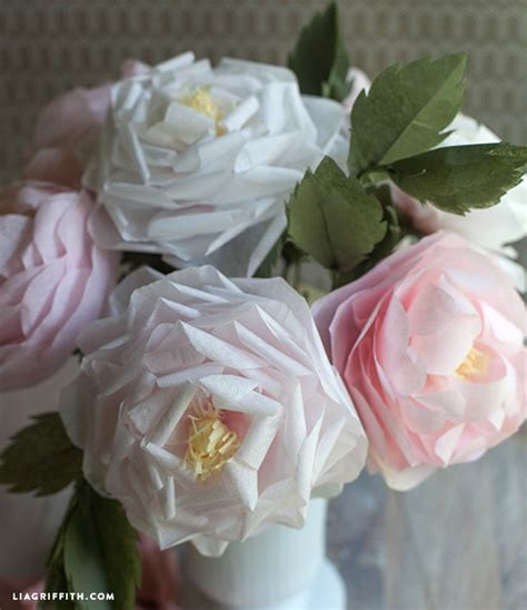 Roses With Tissue Paper - make a tissue paper bloom lia griffith