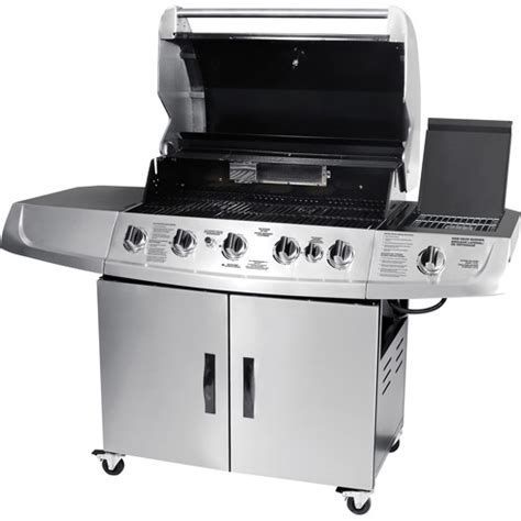 backyard grill 5 burner gas grill black walmart com backyard grill brand brinkmann 5 burner gas grill with side sear burner walmart com