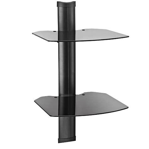Omnimount Wall Shelf by Omnimount Tria Series 2 Glass Shelf Wall System Black Tria2