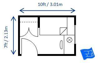 minimum bedroom size   single bed built  minimum code requirements ft  ft apartment