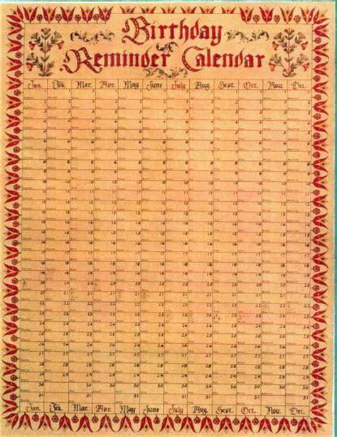 birthday reminder calendar template best photos of birthday reminder calendar free template