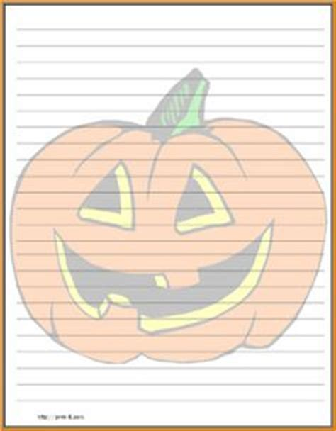pumpkin writing paper stationary with lines scary regular