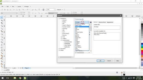 corel draw x5 menu bar cara menilkan menu bar coreldraw x5 hilang di windows