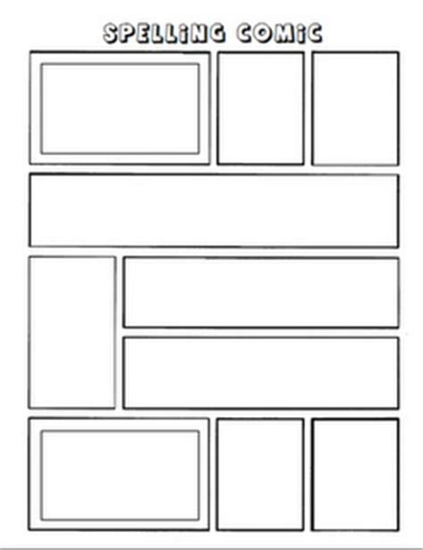 Make A Comic Strip With Spelling Words Reading Groups Pinterest Graphic Organizers Comic Book Template Maker