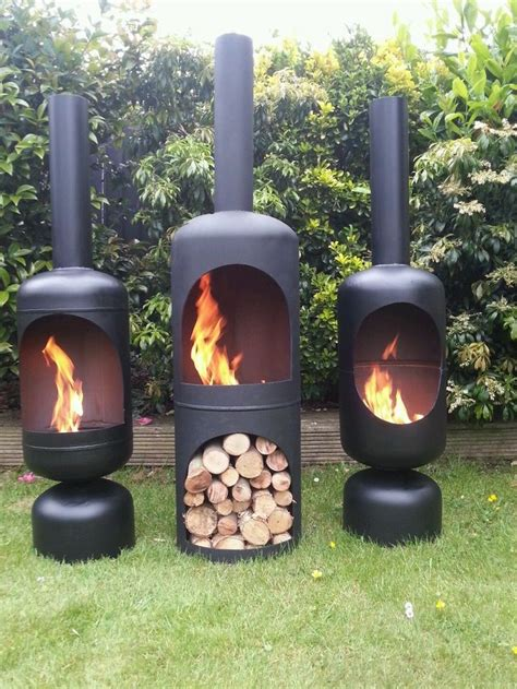 Gas Bottle Chiminea Plans by Gas Bottle Wood Burner Log Burner Chiminea Patio Heater
