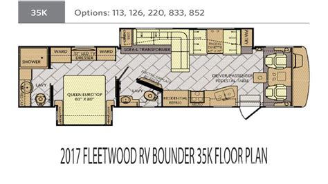fleetwood rv floor plans fleetwood bounder rv floor plans