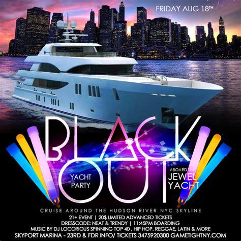 yacht boat party nyc nyc blackout yacht party at skyport marina jewel yacht
